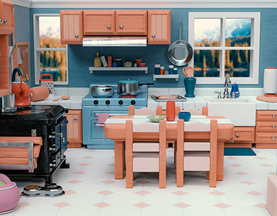 Stylized Kitchen Scene
