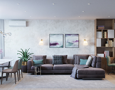 Design of the apartment at Pozniaky
