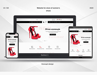 Website for store of womens shoes, online store