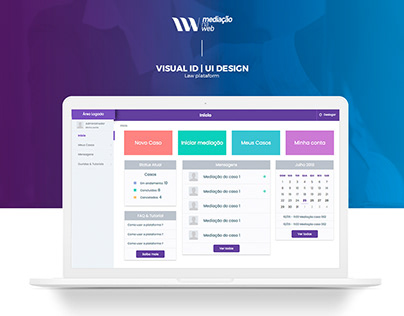 Mediação na Web - Visual ID & UI Design
