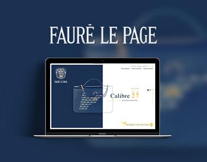 Fauré le Page - Website - Design concept