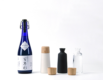 YOSHINO Sake cup and bottle (self produce)