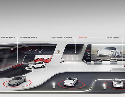 Porsche stand concept for Geneva 2017