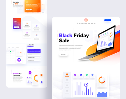 Software Landing Page - Black Friday