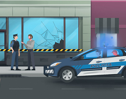 Crime prevention App - Vector illustrations