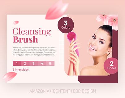 AMAZON EBC | A+ CONTENT DESIGN | CLEANSING BRUSH