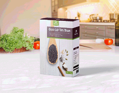 Pura Food - Rice packaging design