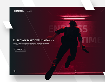 Control Remedy Game Landing page concept