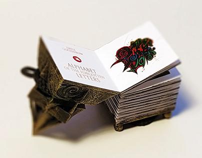 """Mini book """"Alphabet of the Forgotten Letter"""""""
