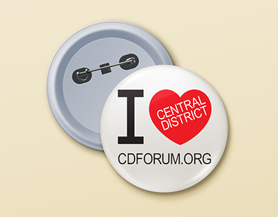 I Love the Central District Button (Print)
