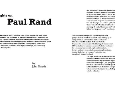 Dialogue: John Maeda and Paul Rand
