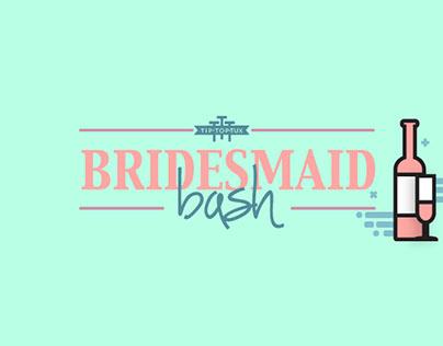 Tip Top Tux - Bridesmaids Bash Infographic Poster