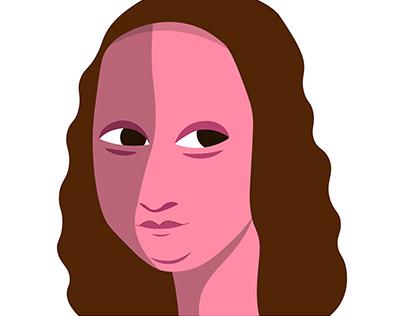 T-shirt - modern Mona Lisa