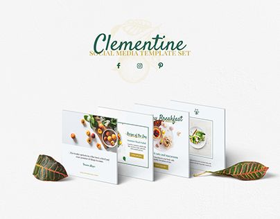 Clementine - Food & Beverage Social Media Template Set