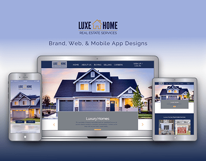 Luxe Home: Brand, Web, & Mobile Responsive Design