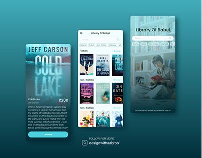 Library mobile app design