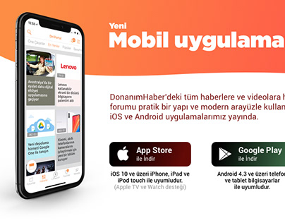 DH Mobile App Download Page for Web