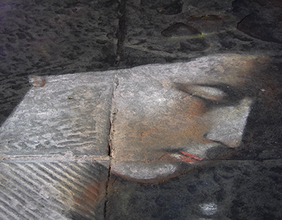 Captured faces from public art in Tuscany.