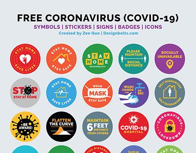 Free Coronavirus, Badges, Stickers & Icons 2020