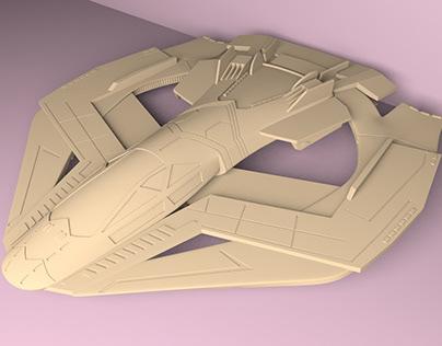 Talon fighter model for 3D print