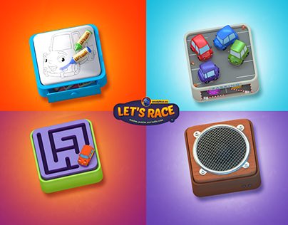 Let's Race icons