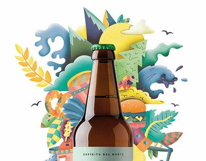 Advertising Illustration | El Camino Beer