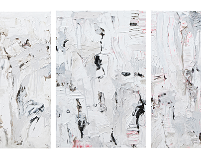 Commissioned for Robert Kim - Grey Triptych