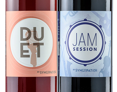 Duet and Jam Session Wine Labels