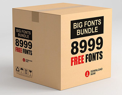 8999 Free Fonts | Big Font Bundle