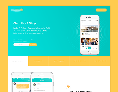 Instant Payment App & Landing Page