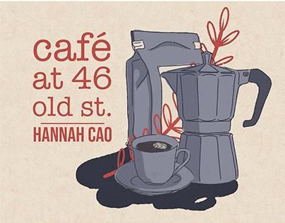 café at 46 old st. by Hannah Cao