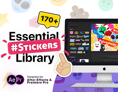 Essential Stickers Library | After Effects, Premiere Pr