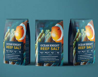 Ocean Knight Reef Salt Packaging