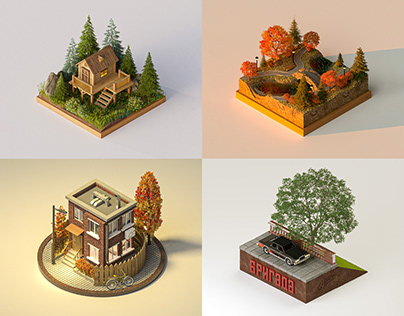 High poly (2 part)