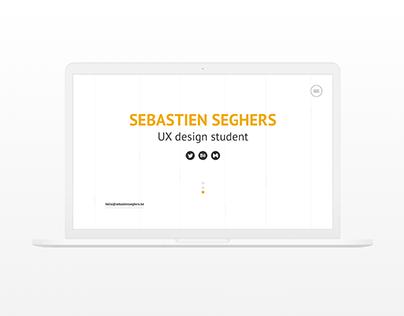 Sébastien Seghers   UX/UI design student
