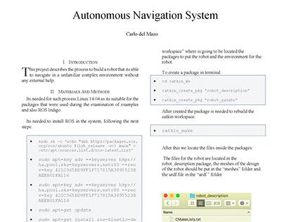 Autonomous Navigation System