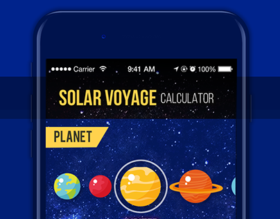 Daily UI #004 - Solar Voyage Calculator