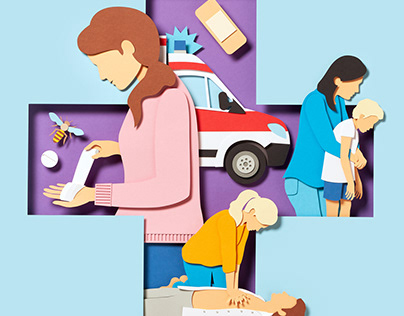 First Aid At Home – Paperart for Laviva Magazine