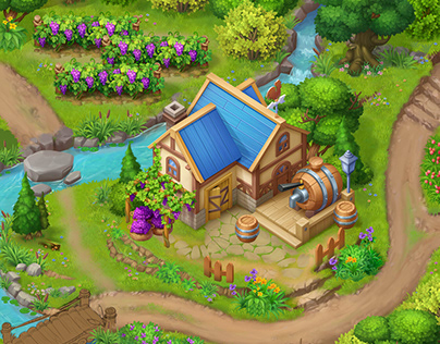 2D Game - Winery design