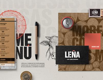 Branding Leña burger grill