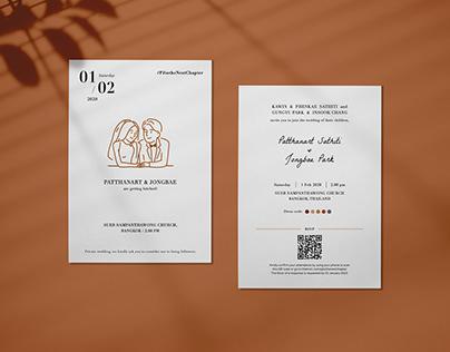 Wedding Invitation Experience & Graphic Design