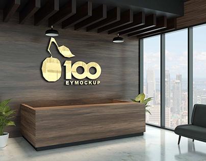 Free Wood Reception Logo Mockup