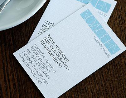 Logo und Visitenkarten für Nowocien Steuerberatung