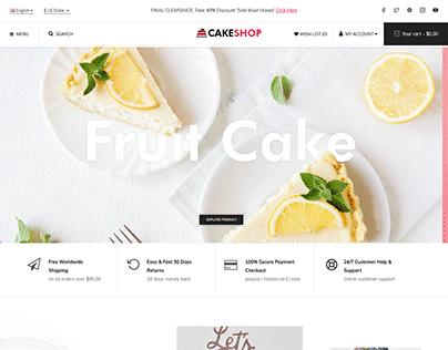 CakeShop - Cake Bakery Shop OpenCart 3 Theme