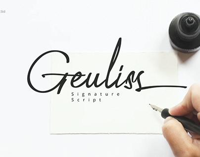 Geuliss - Signature Font