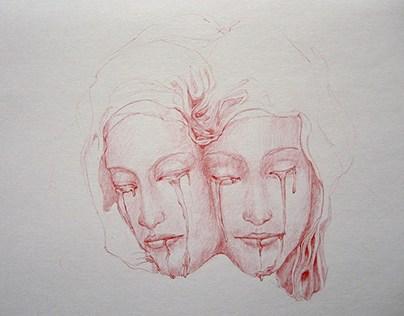 redBallpoint pen Dark Art-3