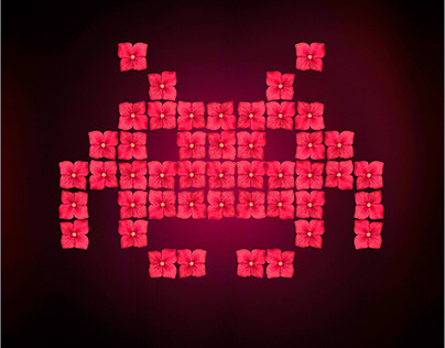 Andy Warhol's Space Invaders
