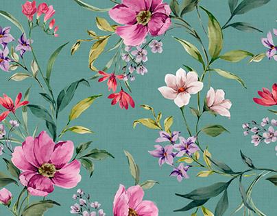 Romantic floral print