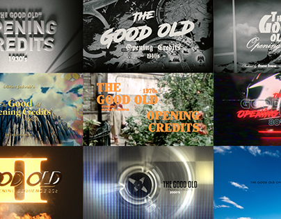 Exercices in style - Opening Titles History 1930s-2010s