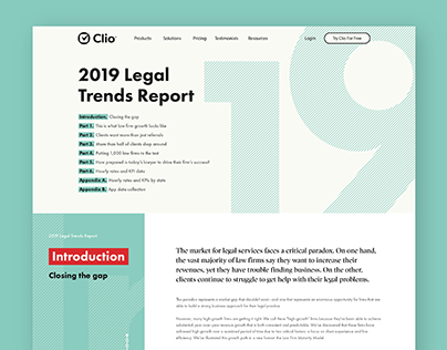 Legal Trends Report 2019 Website